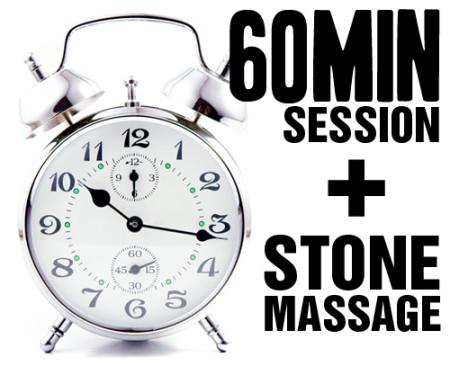60 Minute Session Plus Stone Massage
